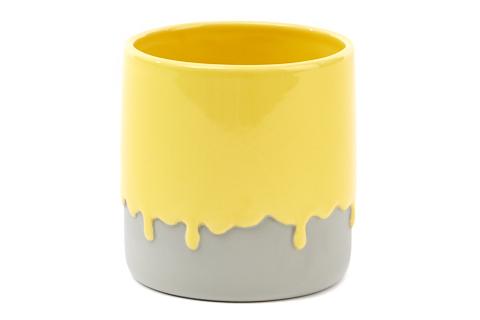 bloempot-geel