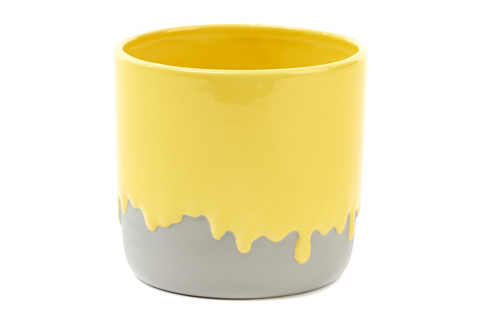bloempot-geel-verf