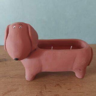Slinky dog-kaars-2-wieken