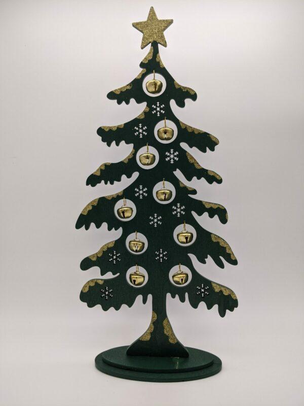 Kerstboom-Hout-Belletjes