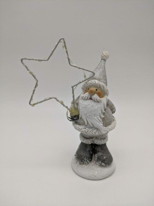 Kerstman-zilver-ster-licht