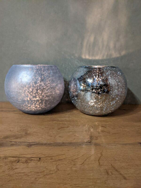 Jline-Windlicht-bol-blauw-zilver