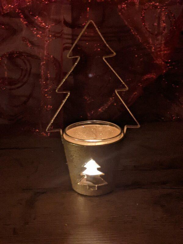Kerstboom-Goud-Glitter-theelichthouder