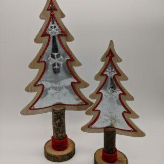 Kerstboom-zilver-metaal-hout