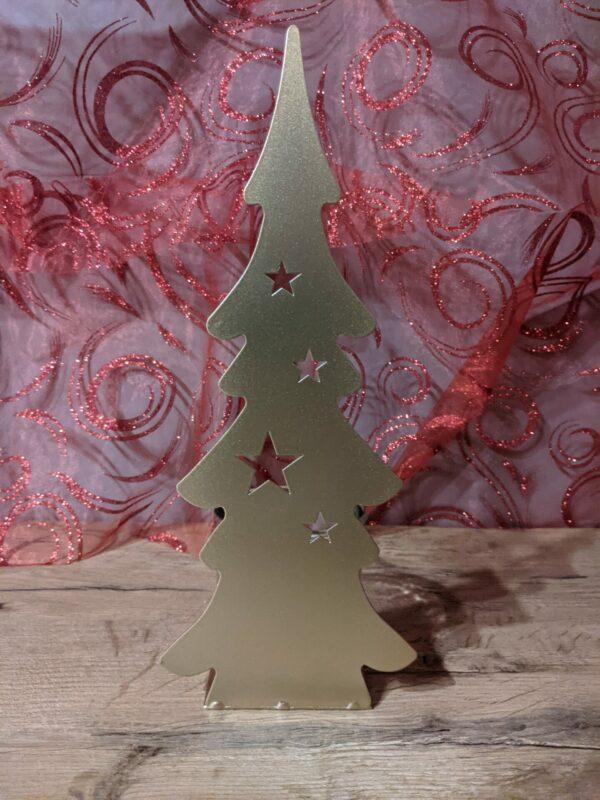 Theelichthouder-Kerstboom-Goud